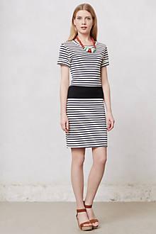 Gauged Stripe Dress