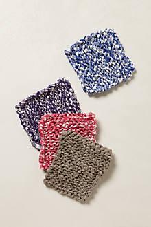 Hand-Knit Linen Pot Holder