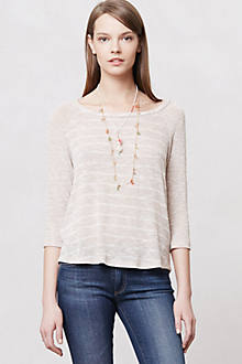 Gauzy Stripe Pullover