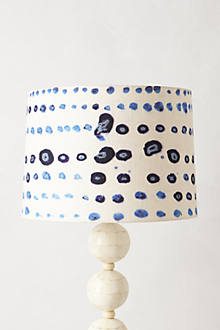 Azure Droplets Lamp Shade