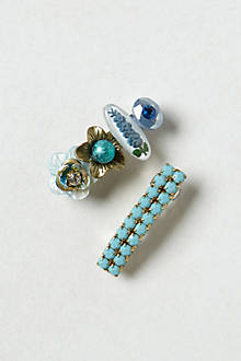 Turquoise Rochelle Clips