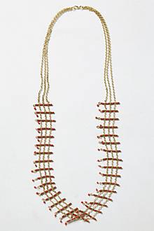 Coral Latticework Necklace