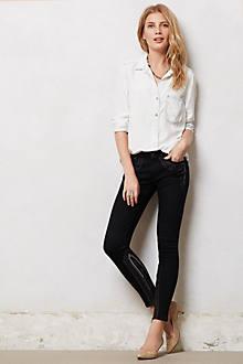 Mother Looker Inside Zip Jeans