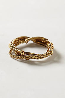 Brass Braided Bangle