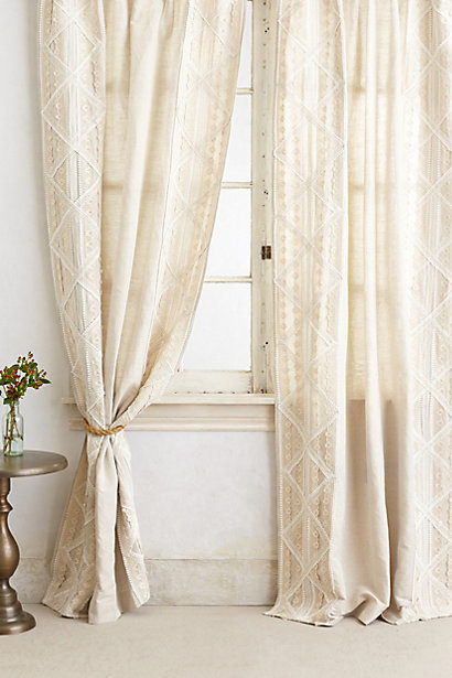 Sale alerts for Anthropologie Appliqued Lace Curtain - Covvet
