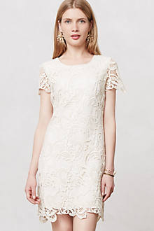 SS WHITE LACE SHIRT DRESS