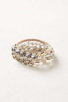 Shimmered Stone  Bracelet Set