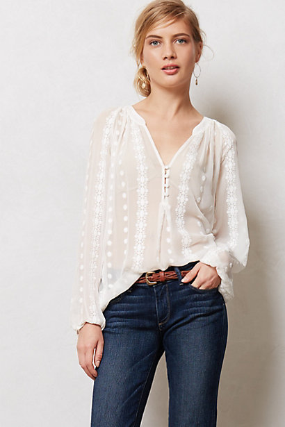 Sale alerts for Anthropologie Neve Peasant Top - Covvet