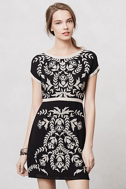 Sale alerts for Anthropologie Embroidered Ombra Shift - Covvet