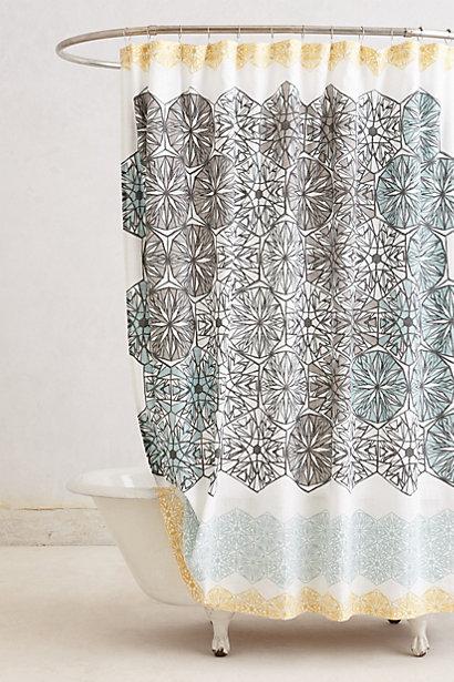 kaleidoscope patch shower curtain