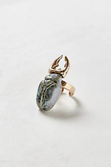 Glazed Scarab Ring