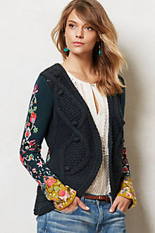Stitched Flora Cardigan