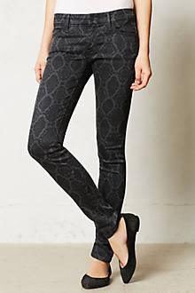Mother Looker Snake Print Jeans