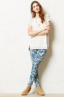 Mother Looker Ankle Bleached Jeans