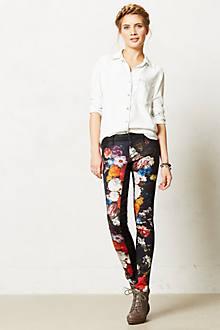 Koral Coated Floral Skinny Jeans