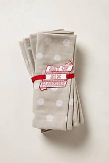 Dotted Linen Napkin Set