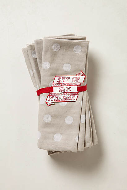 Dotted Linen Napkin Set