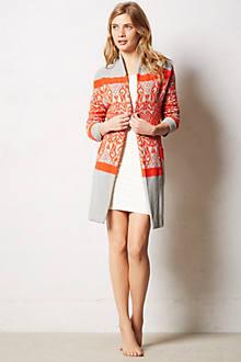 Intarsia Sweater Robe