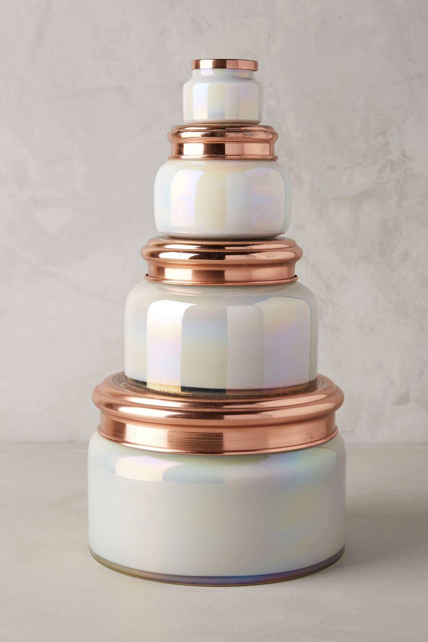 Colossal Capri Blue Mercury Glass Candle