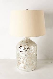 Silver-Etched Lamp Base