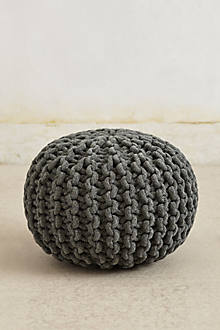 Knitted Chenille Pouf