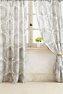 Shimmering Scrollwork  Curtain