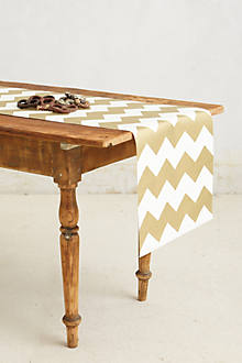 Gilt Chevron Paper Table Runner