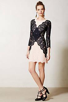 Patchwork Lace Pencil Dress