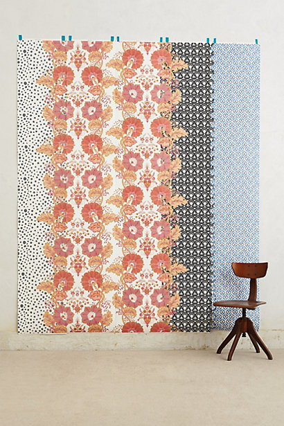 Anthropologie 298 garden tropics birds of paradise mural for Anthropologie wallpaper mural