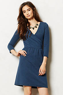 Textured Wrap Dress