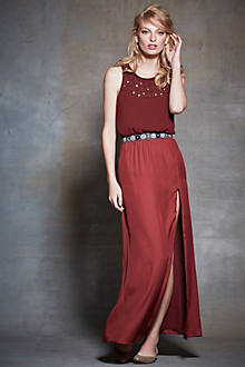 Jeweled Arezzo Petite Maxi Dress