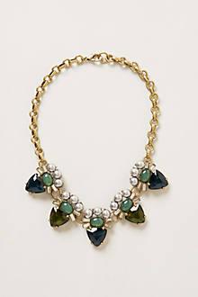 Green Eye Bib Necklace