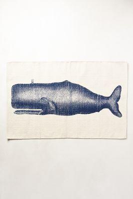 Victorian Whale Bath Mat
