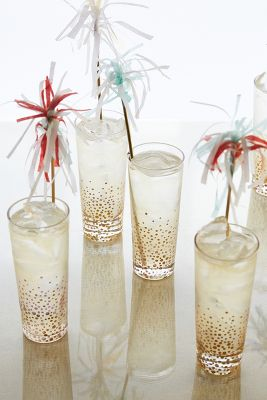 Champagne Bubbles Highball Glasses
