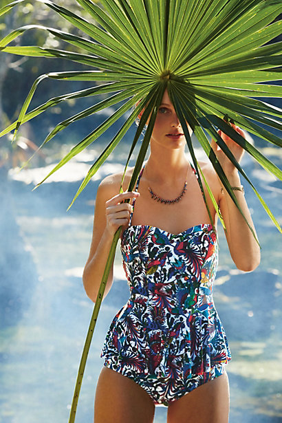 Sale alerts for Anthropologie Mix & Match Peplum Tankini Top - Covvet