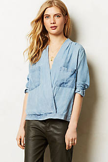 Draped Chambray Popover