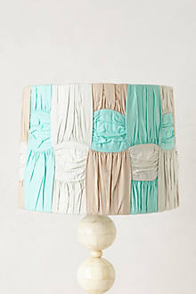 Ruched Colorblock Lampshade