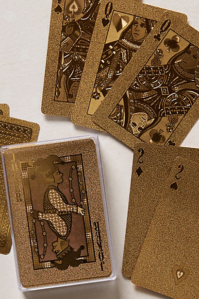 Sale alerts for Anthropologie Gold-Dipped Playing Cards - Covvet
