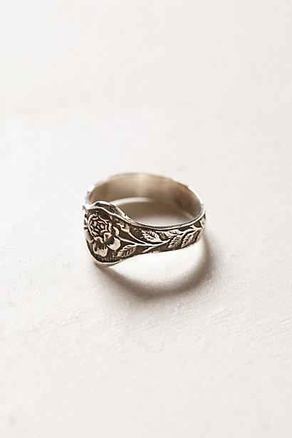 Sale alerts for Anthropologie Engraved Rose Ring - Covvet