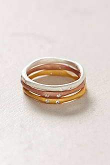Mixed Sliver Stacked Rings