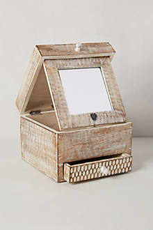 Folding Mirror Jewelry Box