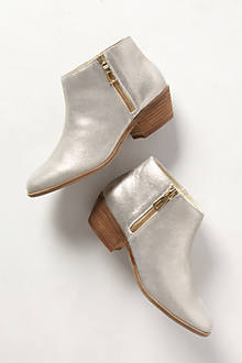 Shimmered Suede Booties