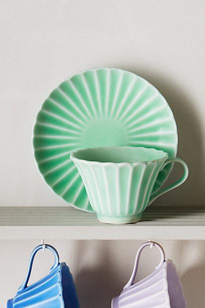 Sale alerts for Anthropologie Majorelle Teacup & Saucer - Covvet