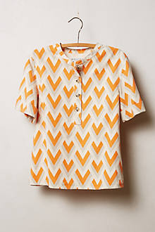 Buttoned Canvas Tee