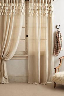 Tasseled Linen Curtain