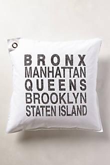 New York Boroughs Pillow