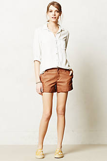 Pilcro Vegan Leather Shorts