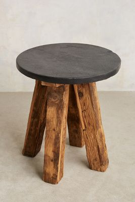 Slate Top Side Table