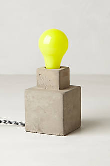 Yellow Ceramic Light Bulb