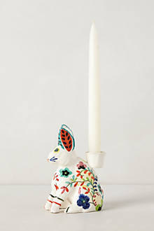 Handpainted Flores Candleholder